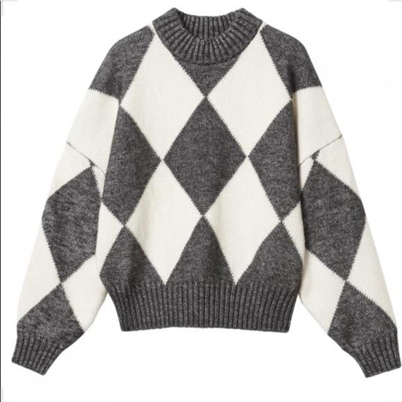 HM pringle scotland sweater puffy sleeves